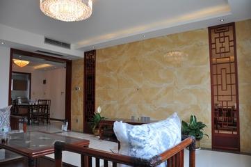白色新中式风格住宅欣赏客厅