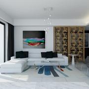 白色现代风格设计案例欣赏室内门