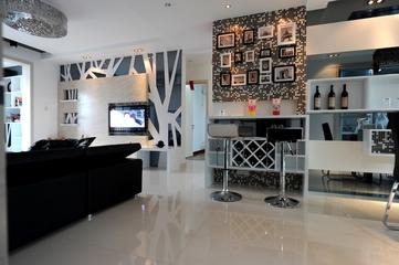 99平现代风三居欣赏餐厅照片墙