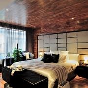 田园设计卧室背景墙