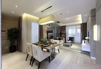 现代风餐厅窗帘搭配 打造舒适唯美家