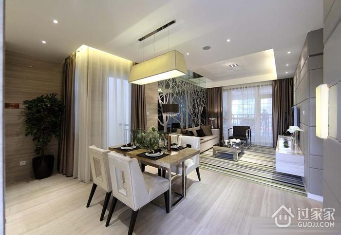 102平三居室豪华现代风设计