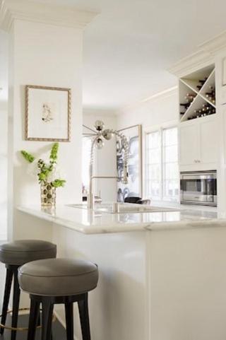 新古典风格效果图厨房吧台