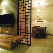 中式效果图背景墙设计图片