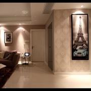 110平简约三室两厅案例欣赏客厅吊顶设计