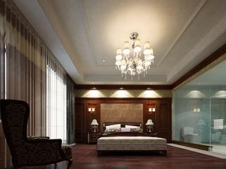 118平新古典三居室欣赏卧室背景墙