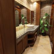 新中式风格卫生间浴室柜装修