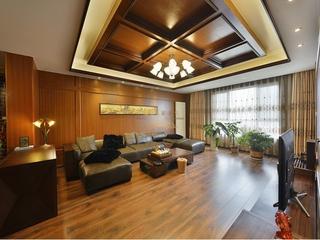 121平东南亚风三居欣赏客厅背景墙