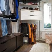 白色北欧两居案例设计欣赏衣帽间衣柜