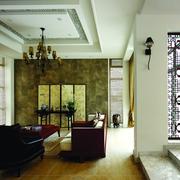 东南亚设计图客厅全景效果图