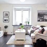 86平白色简约三居室欣赏