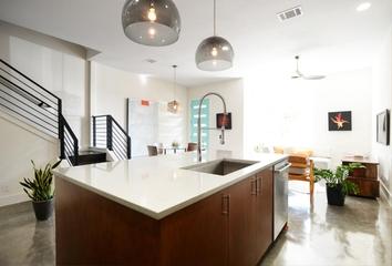 现代风格别墅效果图开放厨房