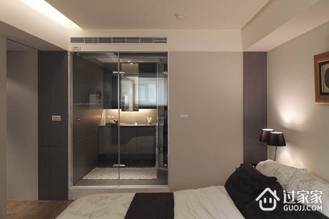 97平现代三居室欣赏卧室室内门
