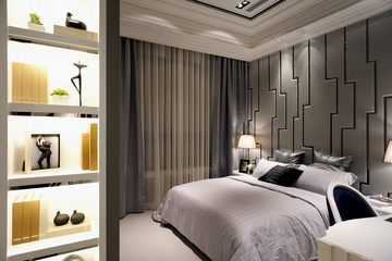 新古典样板房套图卧室