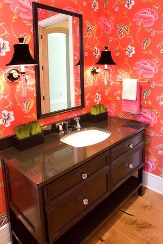 田园效果图大全赏析洗手间设计