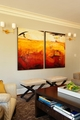 简约风格效果图客厅装饰画