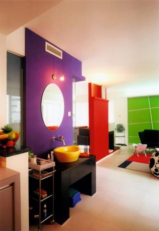 63平简约温馨住宅欣赏洗手间