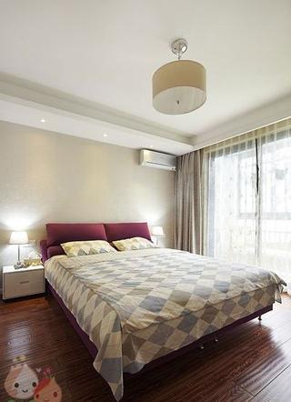 112平白色现代风住宅欣赏卧室灯