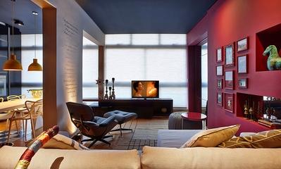 现代舒适彩色公寓欣赏