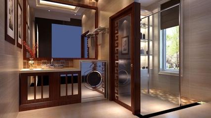 雅致新中式住宅三居室欣赏洗手间窗户