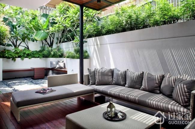 240平现代艺术住宅欣赏庭院
