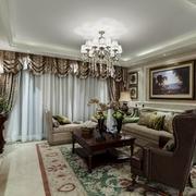 美式风格装修设计客厅