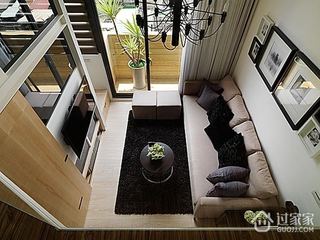 76平挑高复式住宅欣赏