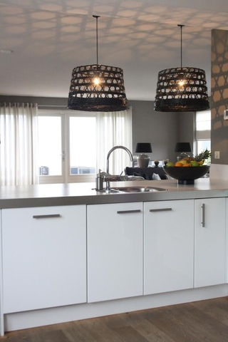 现代黑白灰别墅套图厨房灯饰