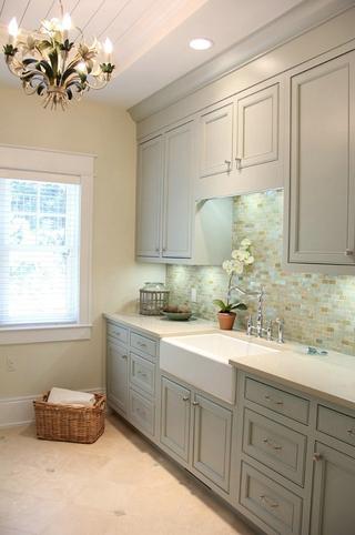 白色美式风四居室欣赏卫生间效果