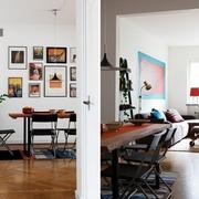 60平优雅北欧老公寓欣赏餐厅设计