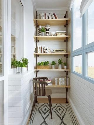 北欧一室一厅住宅欣赏阳台