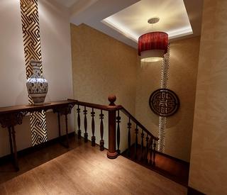 中式风格复式楼效果图欣赏楼梯间