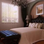 美式乡村案例欣赏卧室窗帘