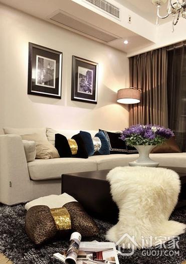 客厅照片墙装饰效果图 简约温馨之家