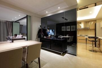 105平三室两厅住宅欣赏餐厅效果图