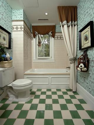 98平米三居室混搭风格设计卫生间浴缸