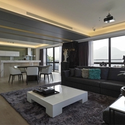 现代风三居室设计欣赏客厅吊顶