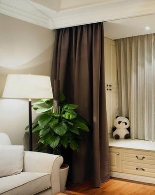 79平美式温馨两居欣赏客厅局部