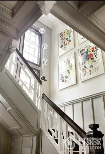 北欧色彩搭配住宅欣赏楼梯间