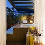 欧式风格效果室外浴缸