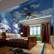 东南亚风格住宅卧室背景墙