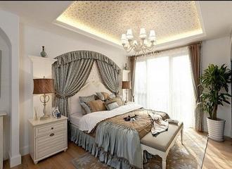 88平白色地中海住宅欣赏卧室