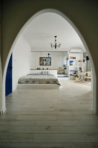 简约地中海风装饰卧室效果