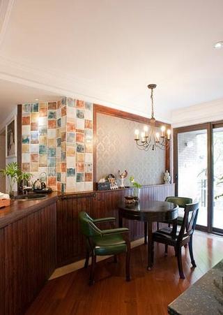 客厅吧台设计效果图 时尚美式混搭风