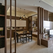 餐厅背景隔断设计效果图 极致家装空间