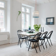 白色北欧两居案例设计欣赏餐厅餐桌