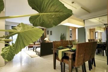 东南亚风格样板房欣赏过道陈设