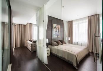 简单清爽的硅藻泥卧室现代简约风