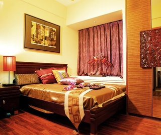 76平平新中式住宅欣赏卧室