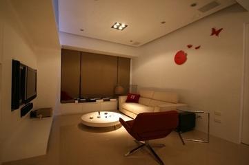 112平简约三居室案例欣赏客厅背景墙